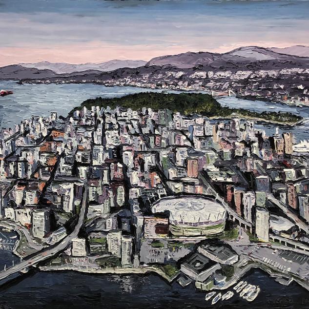 Vancouver Canada original painting | Mike Fantuz