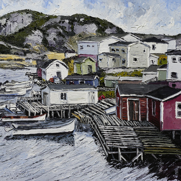 Burgeo Newfoundland oil painting | Mike Fantuz