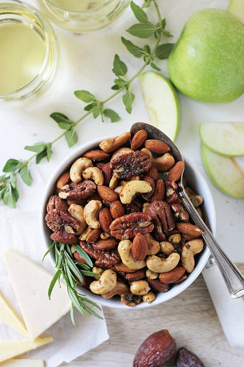 Sweet and Savory Spiced Nuts.