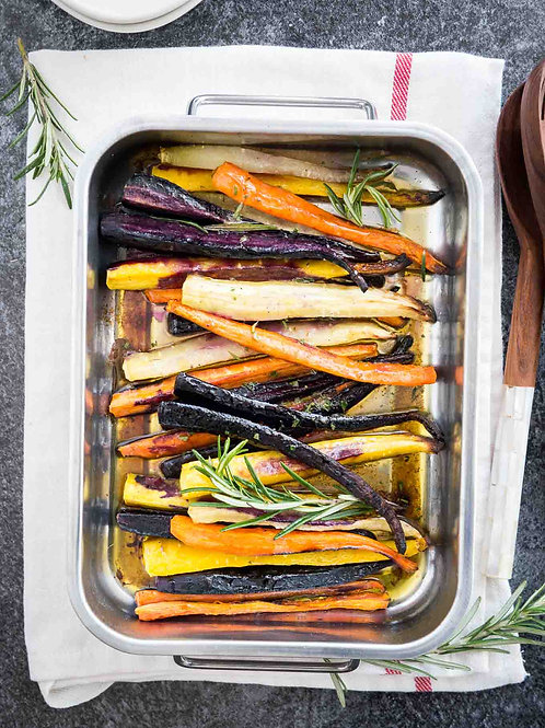 Savory Maple Roasted Rainbow Carrots