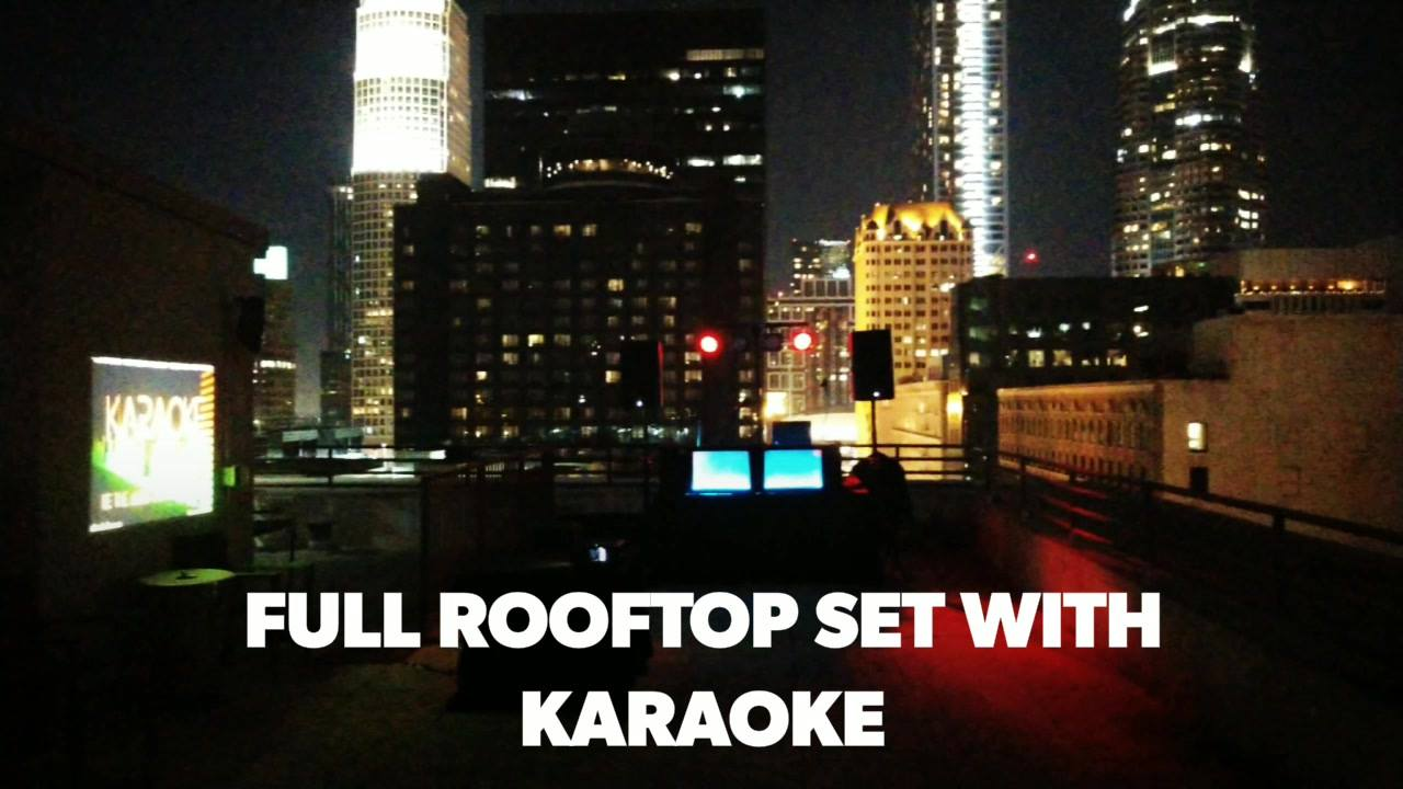 A great night in Downtown LA throwing a fun Penthouse/Rooftop Birthday Party! 2 stories of fun! Whatever your occasion, it's always better with music! We set up lighting, 2 DJs and Karaoke! We can do it all! Let us know how we can bring you the life