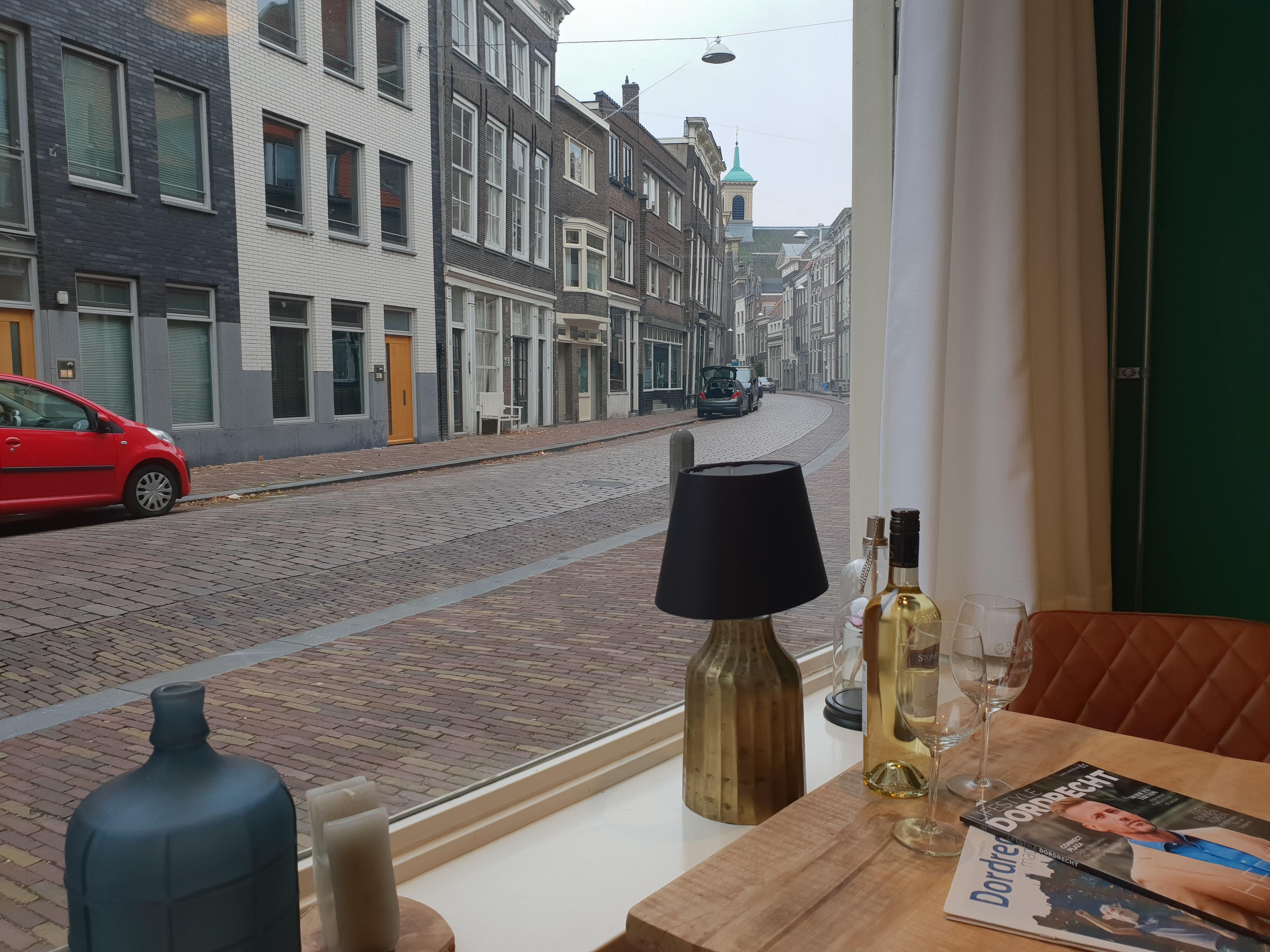 Uitzicht over de wijnstraat