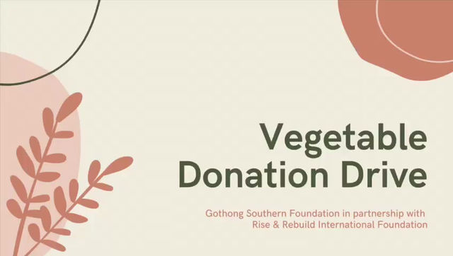 Vegetable Donation Drive