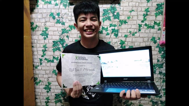 Son of GS Employee Receives Brand New Laptop