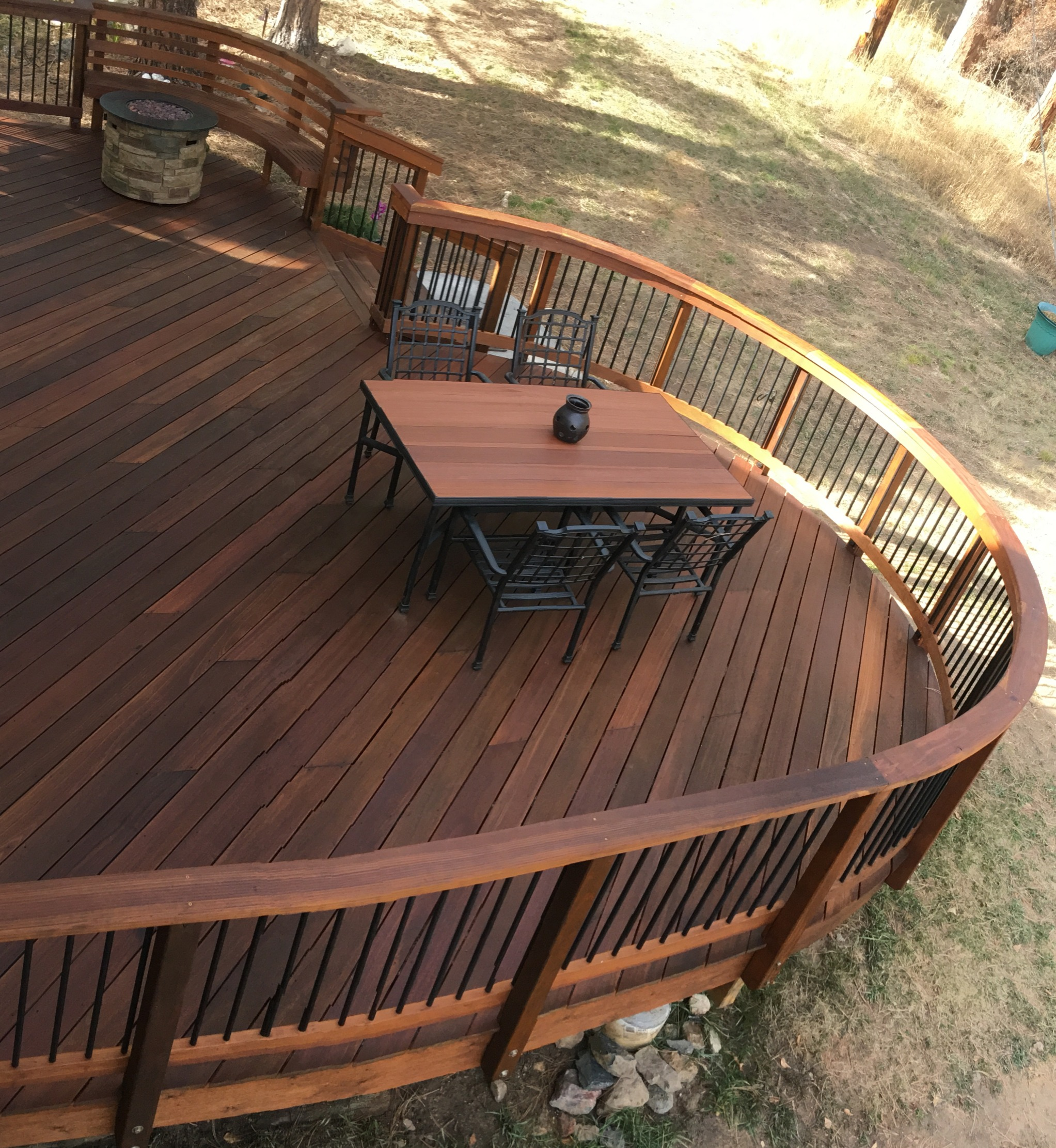 Custom Mahogany Deck in Evergreen