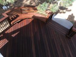 Custom Mahogany Deck in Evergreen