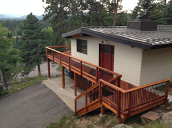 Gorgeous Redwood Deck in Evergreen
