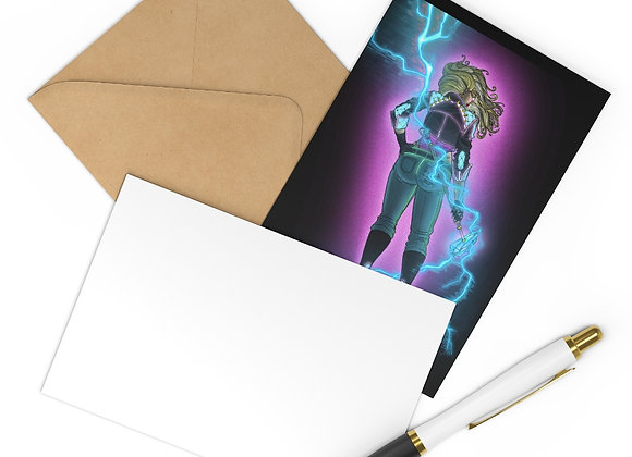 Forged in Neon Warrior Woman Postcards (7 pcs)
