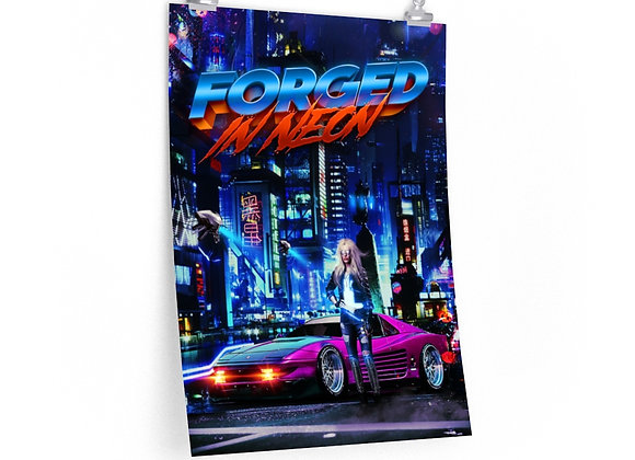 Forged in Neon Night City Poster