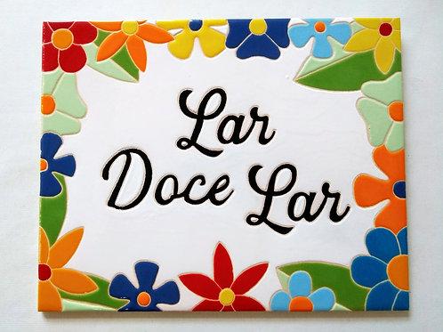 Quadro Lar Doce Lar, Azulejo 20x25cm