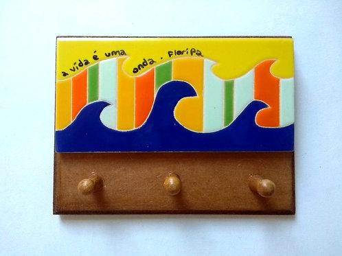 Porta Chaves A vida é uma onda 12x16cm