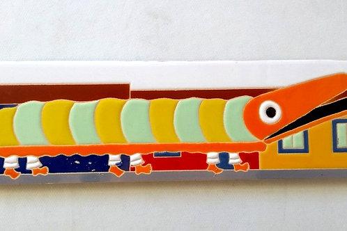 Quadro Faixa Bernunça, folclore Boi de Mamão, Florianópolis. Azulejo 7,