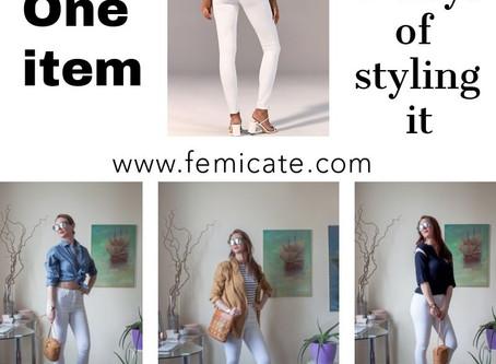 One basic item 3 ways of styling it