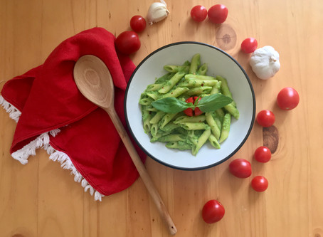 Italian summer pasta with peas