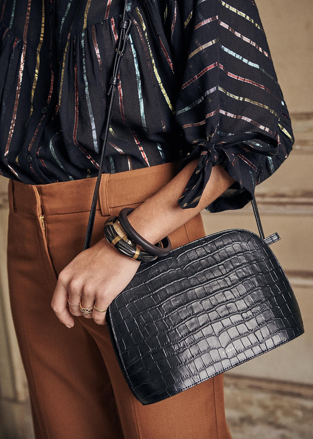 Victor moc croc leather bag from Sezane