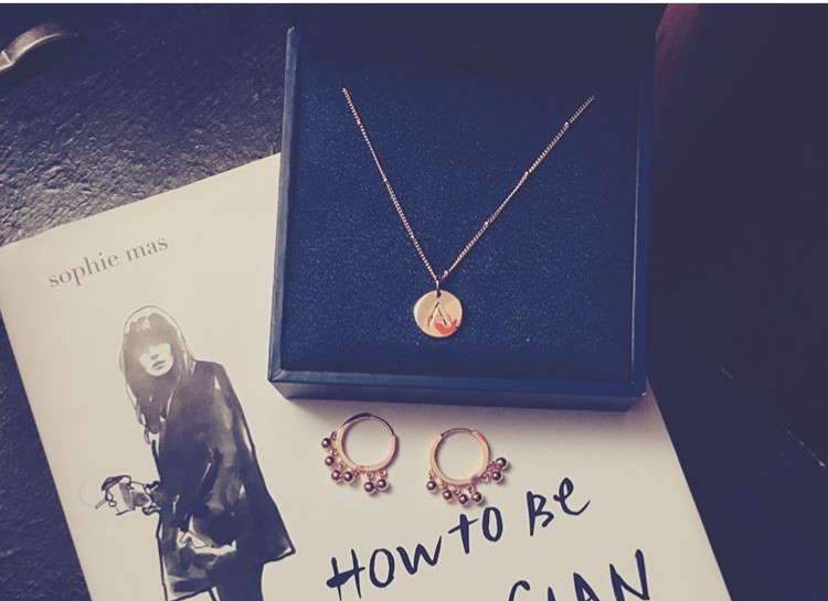 Missoma rose gold A necklace and Astrid and Miyu hoops