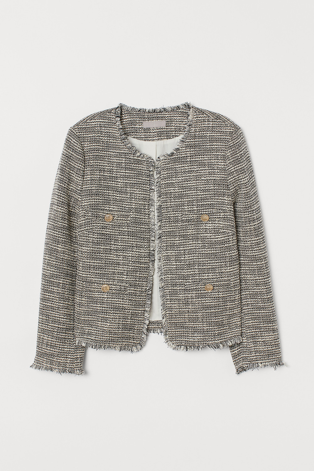 Chanel vibes with this H&M tweed jacket