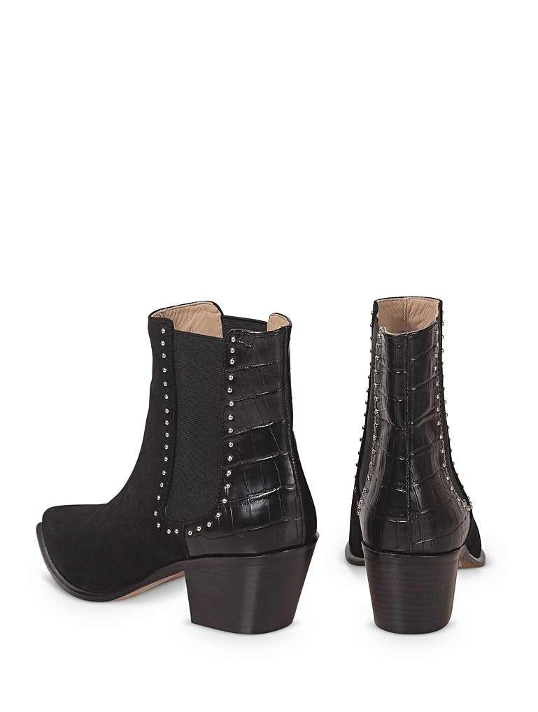Moc Croc black boots by Oliver Bonas