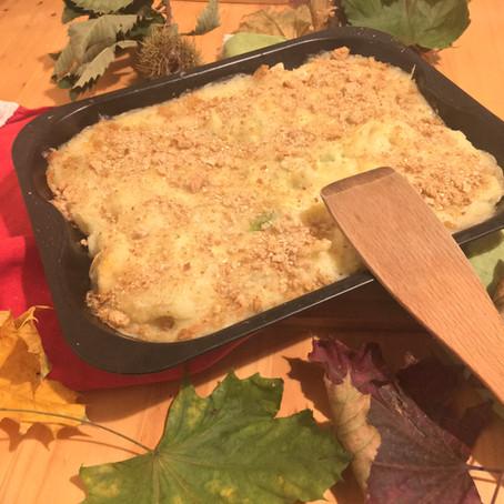 Cauliflower florets & Brussel sprouts au gratin