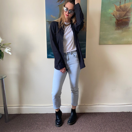Minimalist capsule wardrobe (casual spring outfits)
