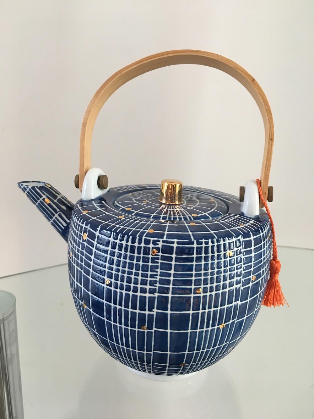 Teapot Tamma blue from Oliver Bonas