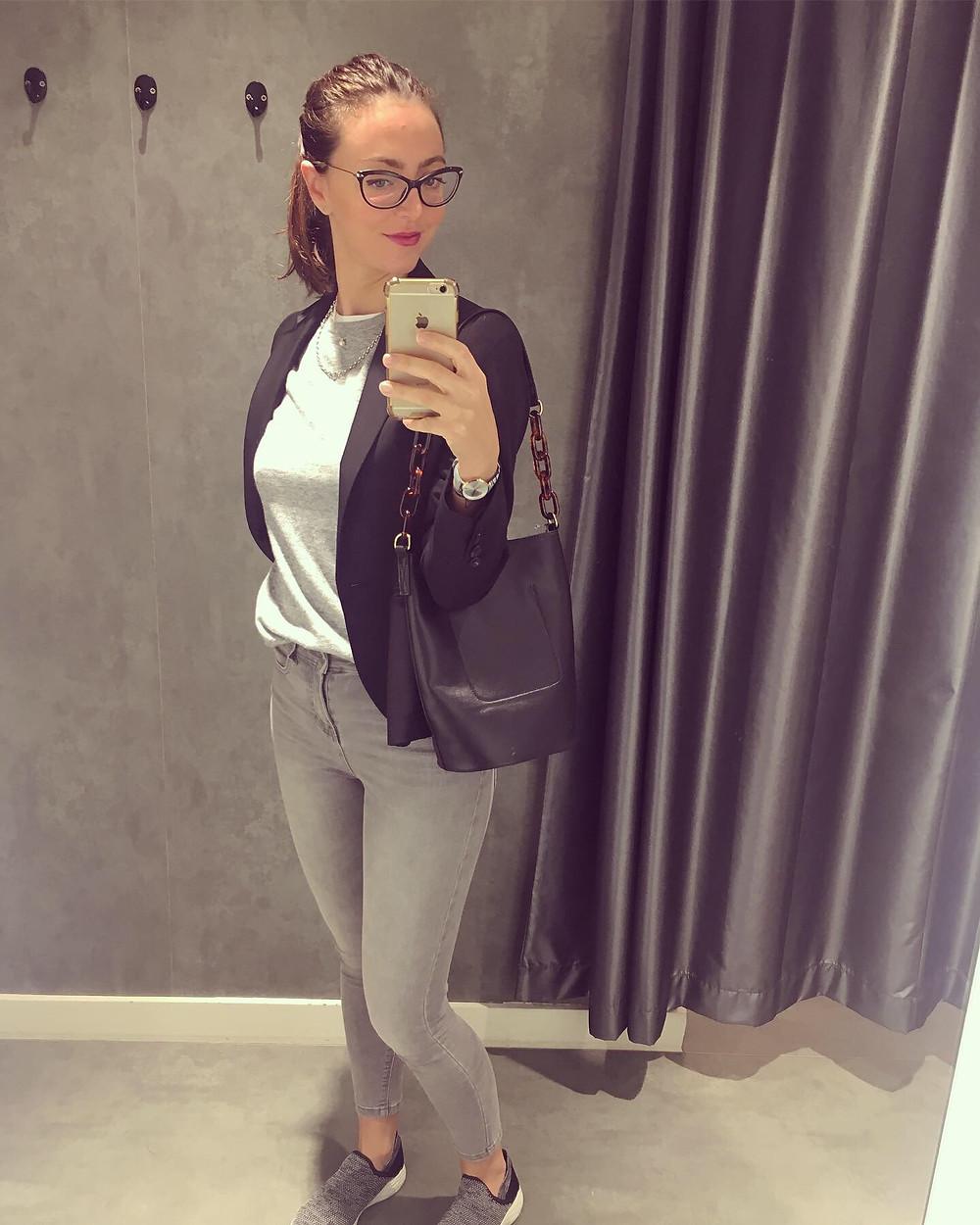 Pure collection wool blazer - Asos men grey jumper - grey Primark jeans -