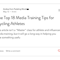 The Top 18 Media Training Tips For Cycling Athletes