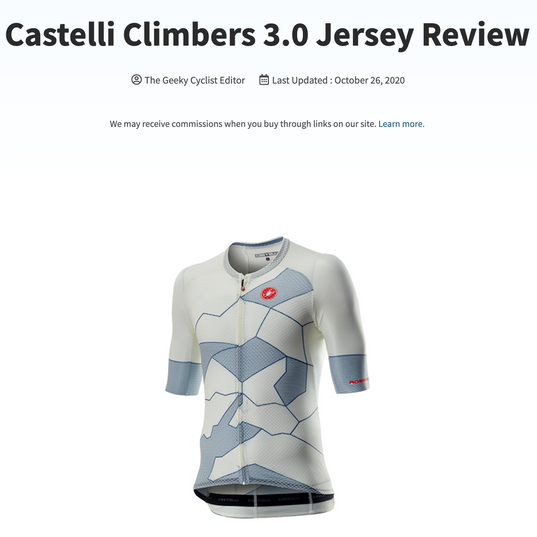 Castelli Climbers 3.0 Jersey Review