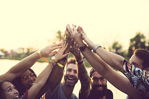 Friends Hands Together Unity at Festival