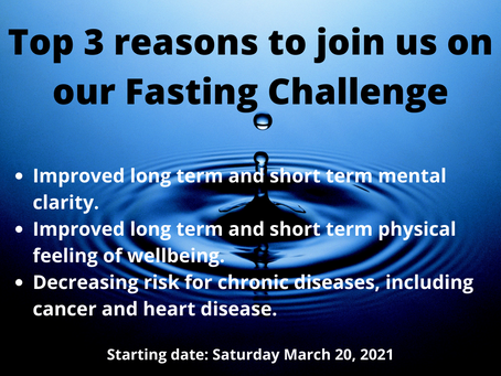 Five Day Fasting Challenge