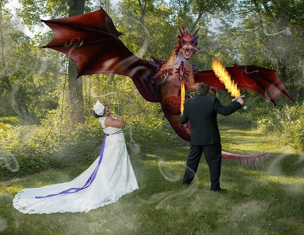 We were just taking #weddingphotos when