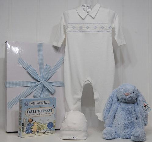 Baby Boy Bashful Bunny and Smocked Suit - 3M