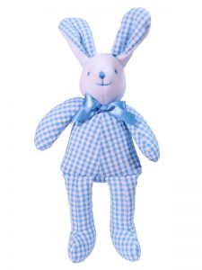 Kate Finn Blue and white check Bunny