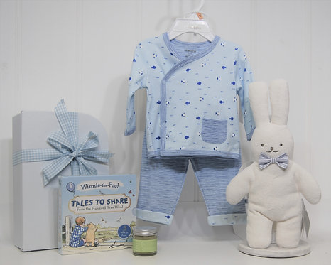 absorba 2 piece suit with bunny
