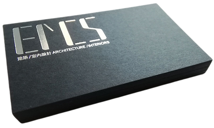 silver foil black business card printing