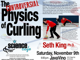 Controversial Physics of Curling, 11/9/19 at JavaVino