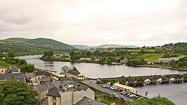 The river Shannon flows through Killaloe/ Ballina