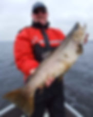 Big 84 cm Ferox Trout caught on Lough Derg