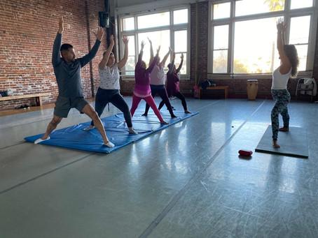 Yoga class with guest teacher