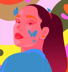 A piece of spring 🦋 Adobe collab