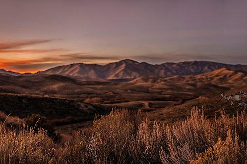 Anderson Prairie Sunset Panoramic