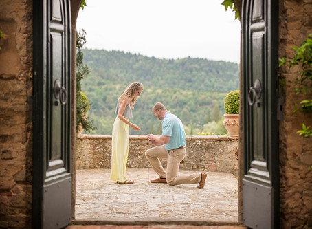 She Said Yes in Tuscany: An Italian Marriage Proposal {Carly Moon Images}