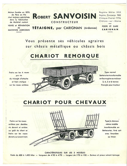 chariot ancien SANVOISIN