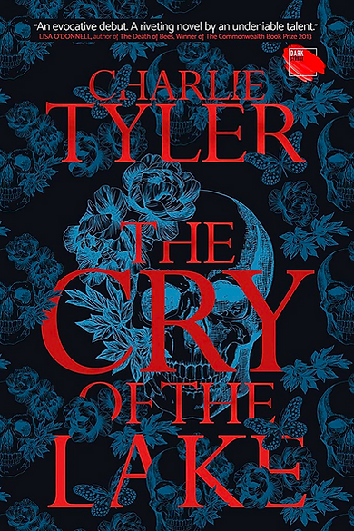 Front cover artwork for The Cry Of The Lake with red text and background of skulls and flowers