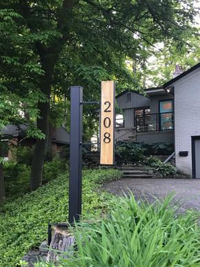 Modern street signage