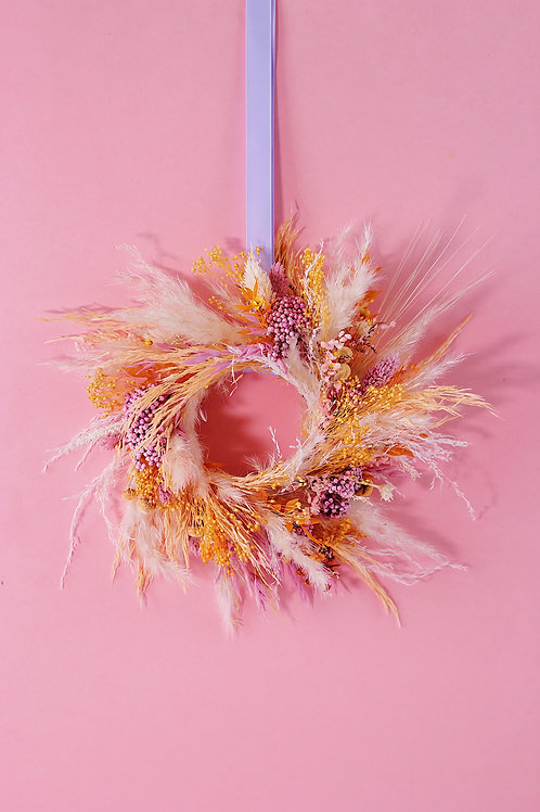 Petite couronne Litchi rose