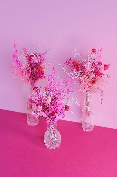 Trio de bouquets Fraise rose