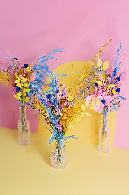 Trio de bouquets Citron bleu