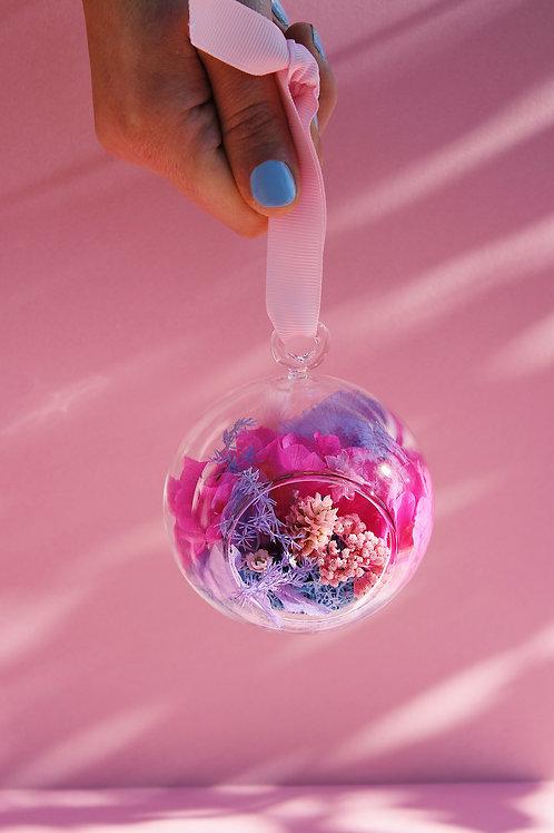 Boule fleurie Framboise rose