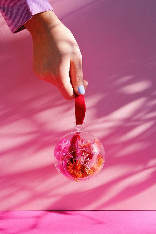 Boule fleurie Fraise rouge
